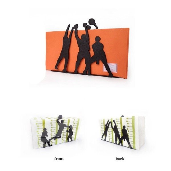 Creative Youngsters Playing Volleyball Design Napkin Holder