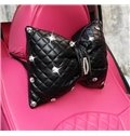 Charming Bow Style With Diamond Beautiful Car Pillow