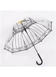 Creative 3D Birdcage Design Transparent Water-Proof Umbrella