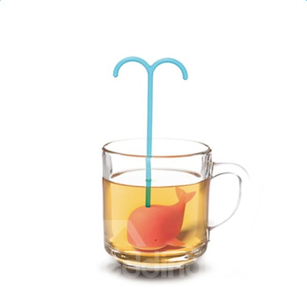 Cute Dolphin-like Food-grade Silica Creative Tea Strainer