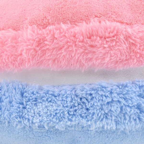 Sweet Quiet Pink and Blue Polyester with PP Cotton Inside Throw Color