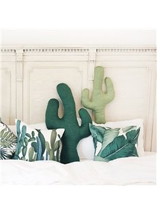 Cute Cactus Pillow with PP Cotton Inside Cotton and Polyester Throw Pillow