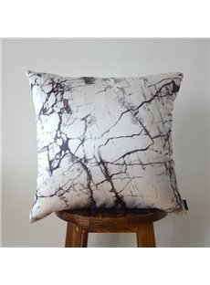 Stylish Marble Pattern Pillow with PP Cotton Inside Modern Style Satin Pillow
