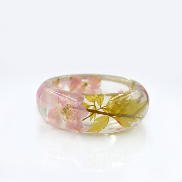 60MM Hand-Made Preserved Flowers Creative Resin Round Bracelet