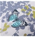 Beautiful Butterfly and Leaves Print 4-Piece Tencel Duvet Cover Sets