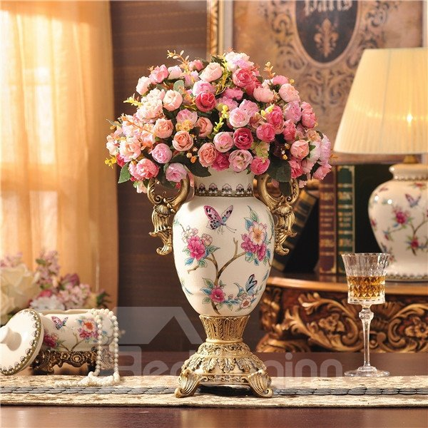Beautiful Ceramic European Style Flower Vase Painted Pottery Beddinginn Com