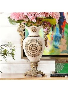 Gorgeous Classical Ceramic European Style Flower Vase Painted Pottery