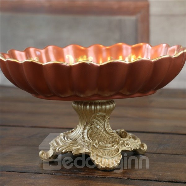 Fantastic Ceramic Flower Pattern Compote Painted Pottery