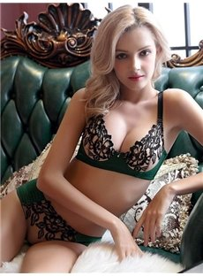 Most Popular Sexy Elegant Floral Pattern Bra Underwear Sets