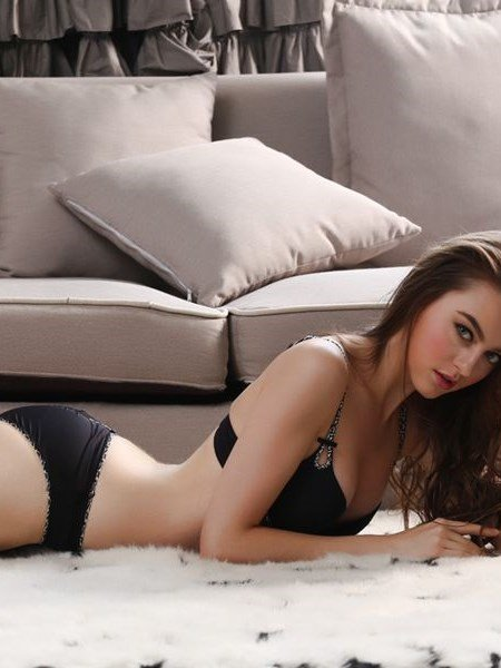 Solid Smooth Luxury Fabrics Sexy Bra Underwear Sets