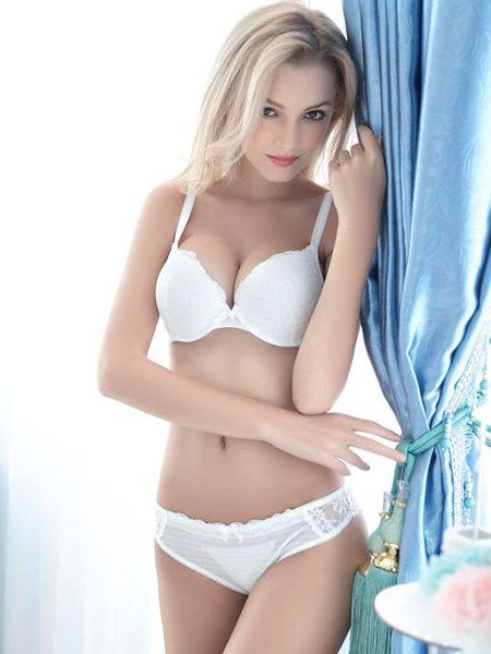 Sexy Floral Hollow With Bow Design Bra Underwear Sets