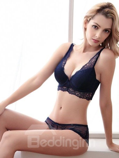 1b5ca84f0e9a1 Sexy Women Charming Flower Style Design Hollow Bra Underwear Sets ...