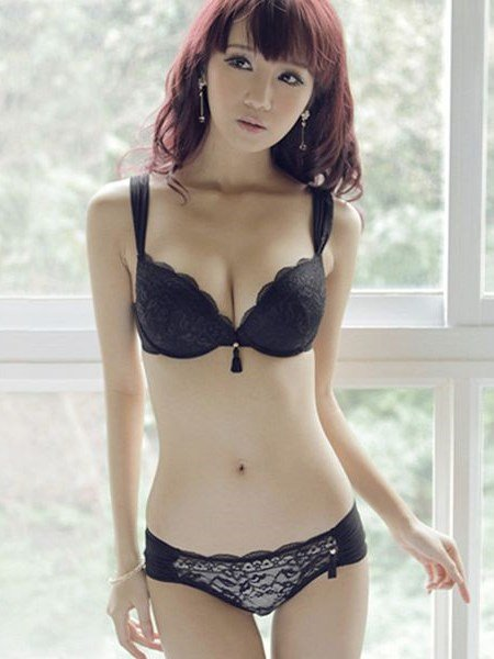 Attractive And Charming Solid Sexy Design Perfect Curve Bra Sets