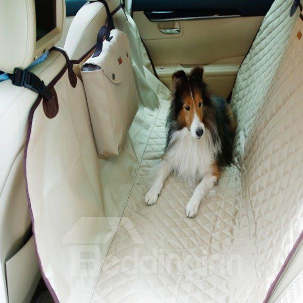 Classic Practical Design With Pocket Popular Rear Car Pet Seat Mat