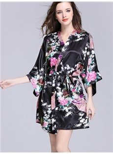 Most Popular Classic Flower Pattern Bathing Muti-Use Sleepshirt