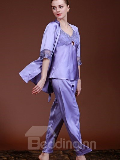 Super High Cost-Effective And Charming Design Three-Piece Sleepshirt