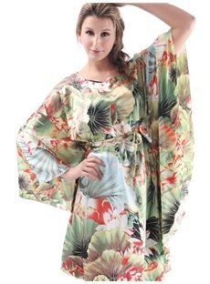 Hollow Colorful Flower Pattern Design Shawl Free Size Sleepshirt