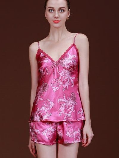 Bright Floral Design And Comfortable Wearing Sleepshirt
