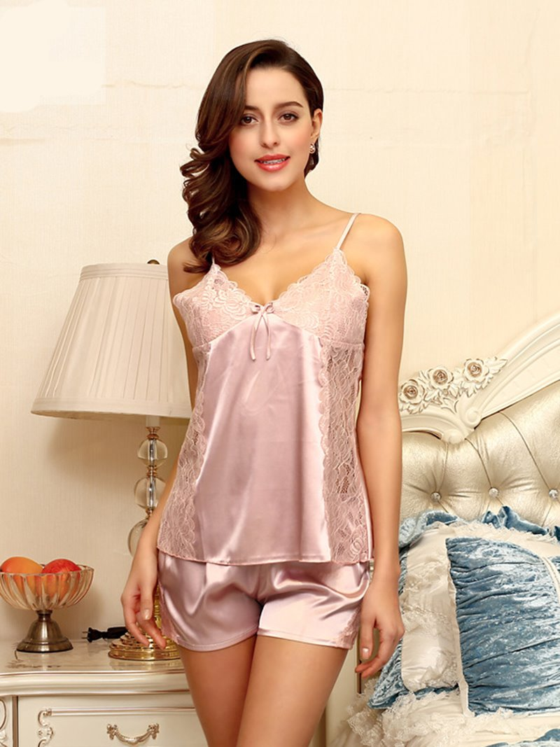 Harness-Style Hollow Lace Sexy One Size Sleepshirt Set