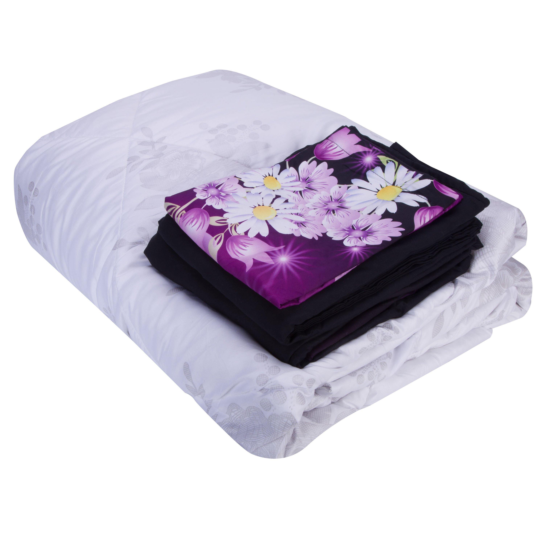 3D Dreamlike Butterflies and Floret Printed 5-Piece Comforter Sets