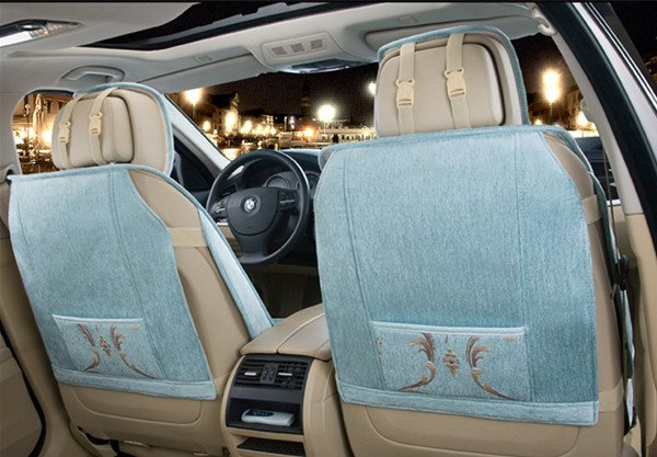 Elegant And Exquisite Floral Pattern Comfortable Material Universal Car Seat Cover