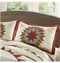 Ethnic Style Star and Flower Rattan Embroidery 3-Piece Bed in a Bag