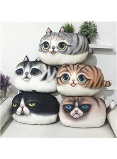 Adorable 3D Kitty Shape Plush Throw Pillow