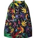 Stunning Maple Leaves Pattern Black Background 3D Midi Skirt