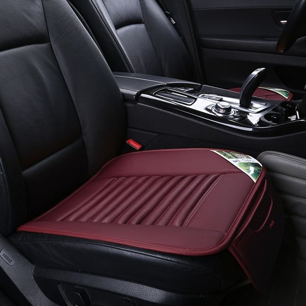 Popular Corrugated Design PU Leather Material Five Car Seat Mat Set