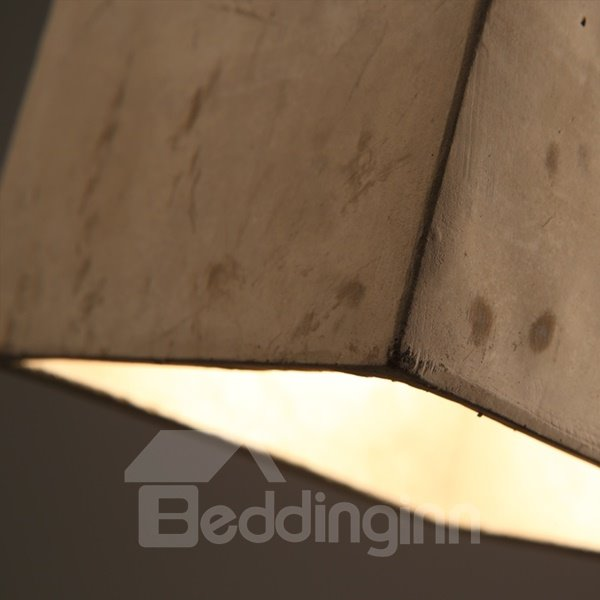 Square Cement Simple Style Decorative Pendant Light