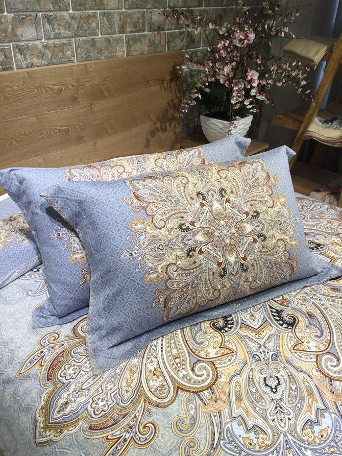 Luxury Aulic Pattern Print 4-Piece Cotton Duvet Cover Sets