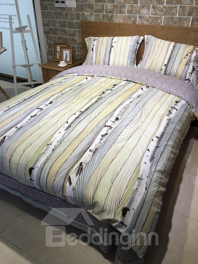 Rural Style Trunk Print 4-Piece Cotton Duvet Cover Sets