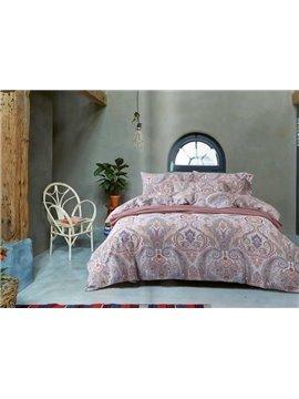 Exotic Style Floret Print 4-Piece Cotton Duvet Cover Sets