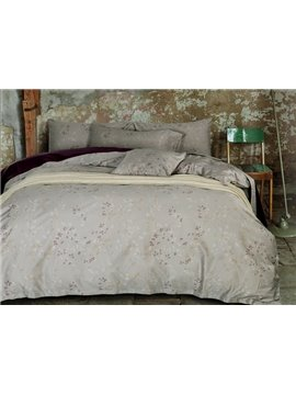 Pastoral Style Cozy Light Gray 4-Piece Duvet Cover Sets