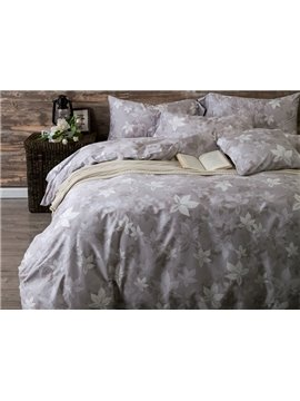 100% Cotton Leaves Print 4-Piece Duvet Cover Sets