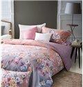 Sweet Colorful Floret Print 4-Piece Cotton Duvet Cover Sets
