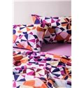 Contemporary Colorful Round Pattern Print 4-Piece Cotton Duvet Cover Sets