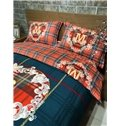 Sweet Heart-shaped Cloud and Letter Print 4-Piece Cotton Duvet Cover Sets