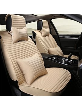Breathable Easy And Eco-Friendly Flax Material Popular Pure Design Universal Car Seat Cover