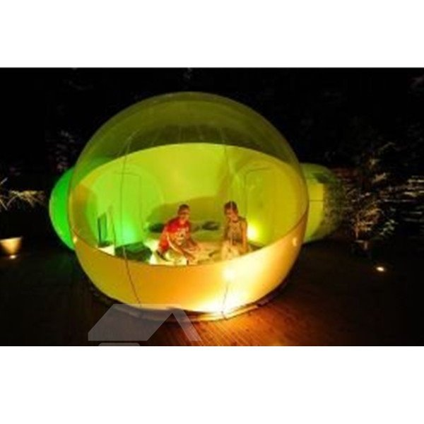 Double Tunnel Outdoor Inflatable Bubble Lawn Tent Backyard Holiday Family Activities Transparent Tent