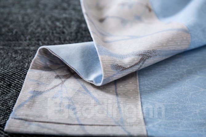 Noble Unique Tree Branch Print 4-Piece Cotton Duvet Cover Sets
