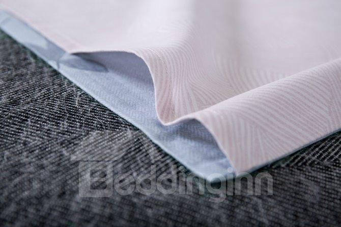 Gorgeous Floral Light Blue 4-Piece Cotton Duvet Cover Sets