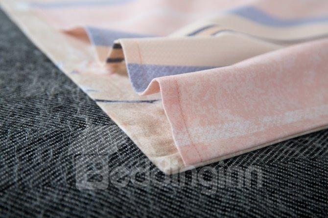 Unique Design Stunning Magnolia Print 4-Piece Cotton Duvet Cover Sets