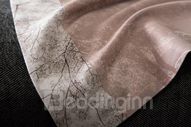 100% Cotton Vivid Tree Print 4-Piece Duvet Cover Sets