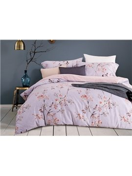 Fancy Rural Style Floral 4-Piece Cotton Duvet Cover Sets