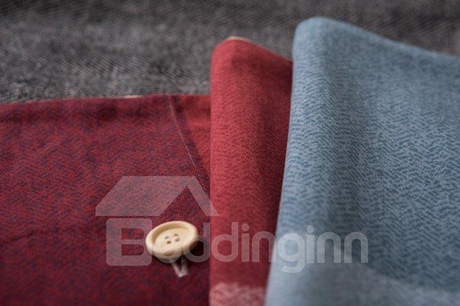 Intelligent Design Neutral Plaid Print 4-Piece Cotton Duvet Cover Sets