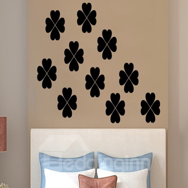 Beautiful Heart Shaped Flower Pattern Remove bl Wall Stickers