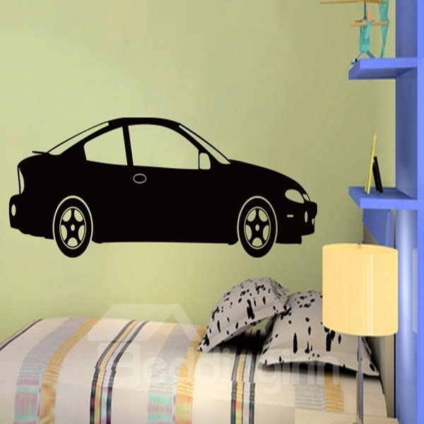 Black and White Car Pattern Decorative Wall Stickers