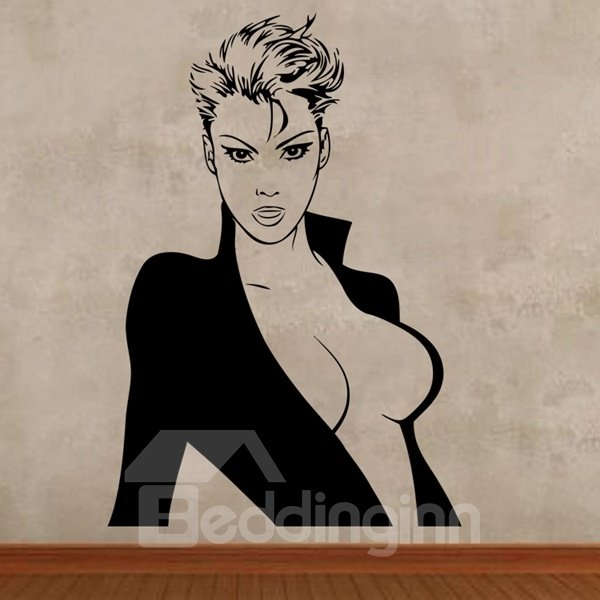 Sexy and Beauty Woman Pattern Removable Wall Stickers