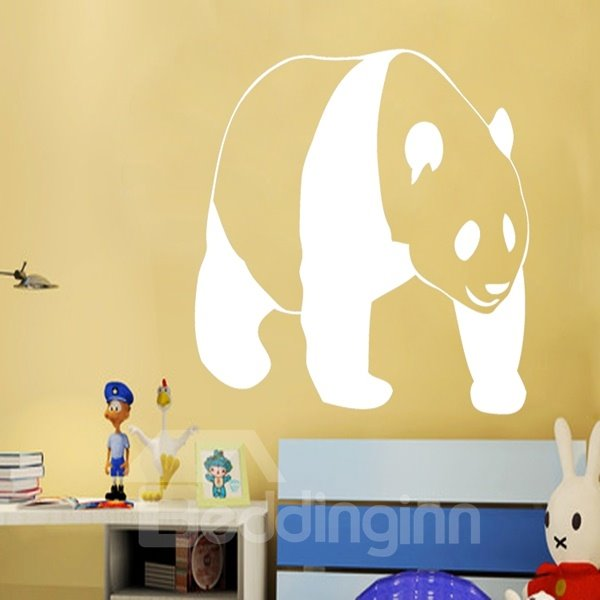 Black Decorative Panda Pattern Removable Wall Stickers